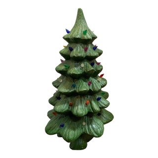 1980s Large Ceramic Multi Light Christmas Tree For Sale
