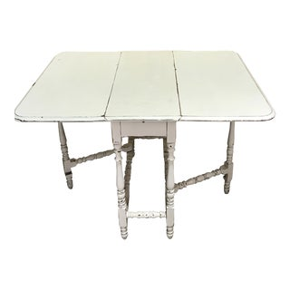 Shabby Chic Distressed Painted Gate leg Table