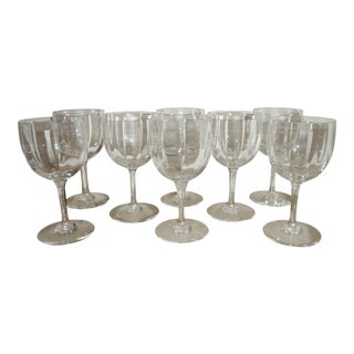 Baccarat French Crystal Wine Glasses - Set of 8 For Sale