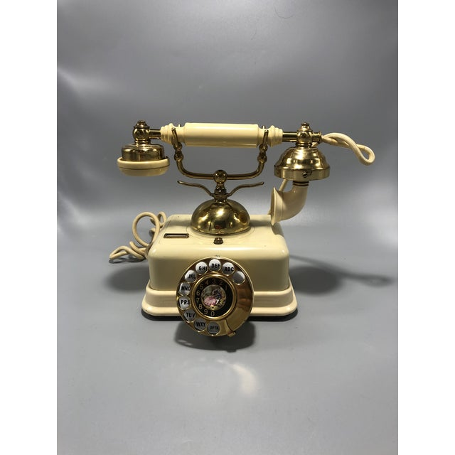 Plastic Mid-Century Electric Dial Phone 1950s Circa For Sale - Image 7 of 8