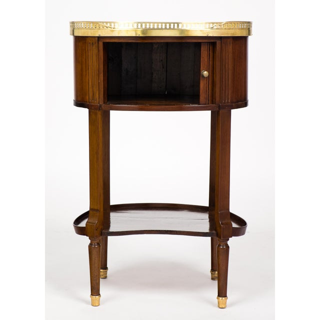 Louis XVI Marble-Top Mahogany Side Table - Image 5 of 10