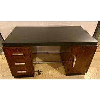 Gilbert Rohde Art Deco Ebony Top Mid-Century Modern Desk or Writing Table Preview