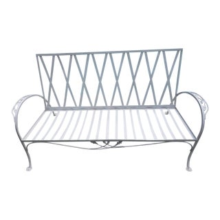 1940s Vintage Salterini Wrought Iron Sofa For Sale