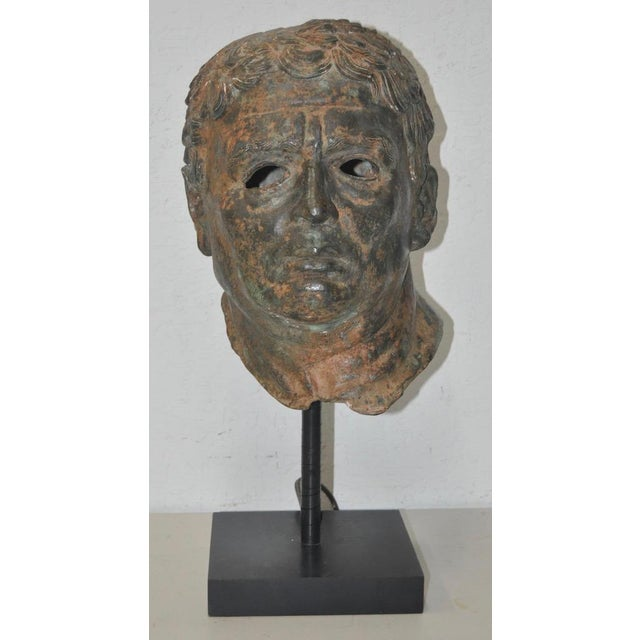 19th Century Bronze Head After Greek Antiquities For Sale - Image 10 of 10