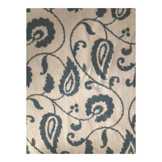 Schumacher 6 1/2 Yards of Malacca Ikat Vine Printed Fabric