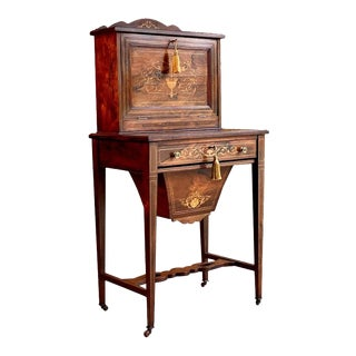 Antique Rosewood Desk Bonheur Du Jour Napoleon III Secretary Desk For Sale