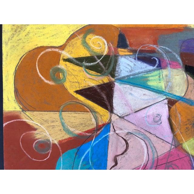 2010s Abstraction No.107 Original Pastel by Erik Sulander 14x12 For Sale - Image 5 of 6