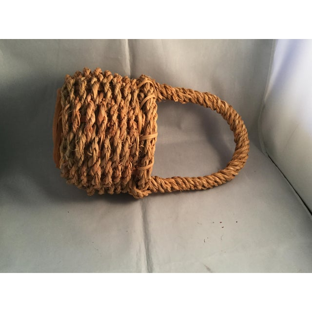 Hemp Wishing Well Basket For Sale - Image 4 of 6
