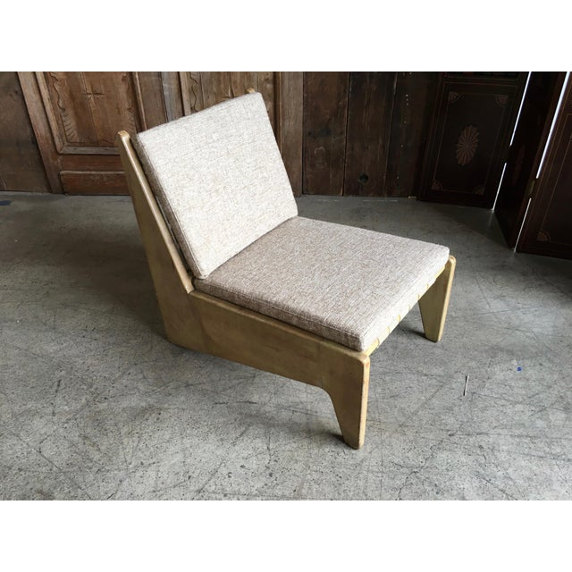 Fabric Architectural Modernist Slipper Chair For Sale - Image 7 of 7