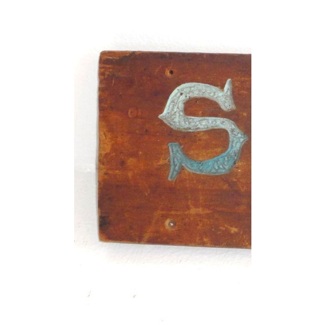 Folky Original Painted Trade Sign, Early 20th Century For Sale - Image 5 of 6