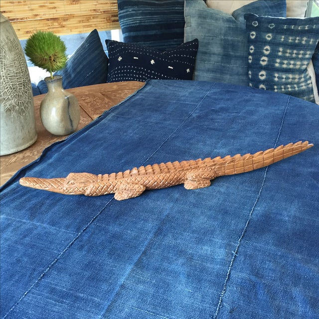 Vintage Hand Carved Tramp Folk Art Alligator - Image 2 of 6