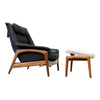 Folke Ohlsson for Dux Lounge Chair & Ottoman For Sale