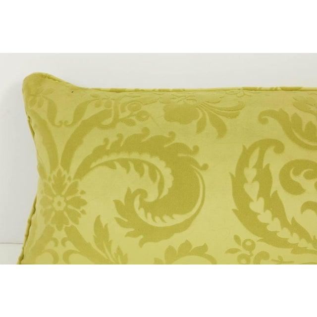 Long Damask Cushion For Sale - Image 4 of 7