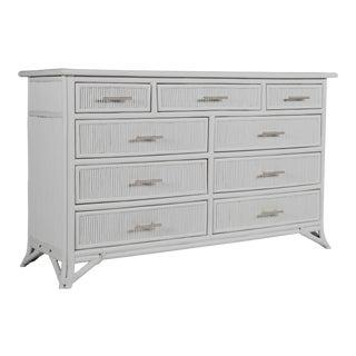 Aruba Nine-Drawer Dresser - Light Gray For Sale