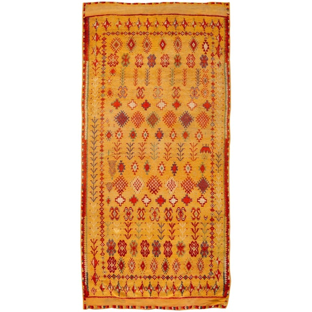 """Antique Moroccan Rug, 3'10"""" X 6'2"""" For Sale"""