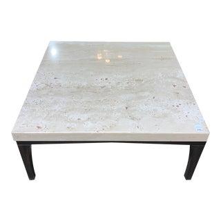 Hurwitz Mintz Travertine Marble Table For Sale