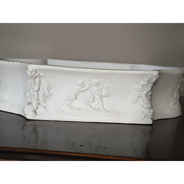 Rectangular White Bisque Floral Tray - Image 5 of 9