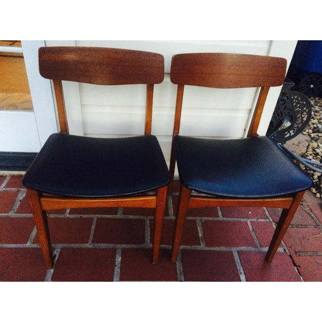 Mid-Century Modern Dining Chairs- A Pair - Image 2 of 6