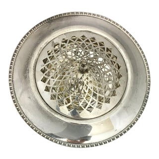 Silver Plate Round Serving Bowl & Lid