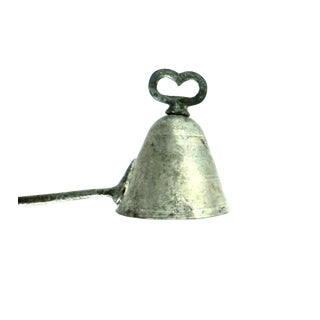 1876 Antique Metal, Heart-Shaped Ice Cream Disher For Sale