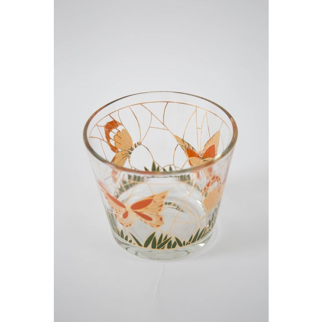Culver Glass Butterfly Ice Bucket - Image 4 of 5