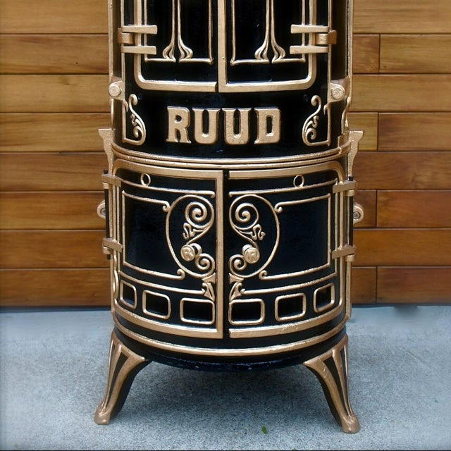 Antique Bar Cabinet with Water Heater Ruud For Sale In San Francisco - Image 6 of 7