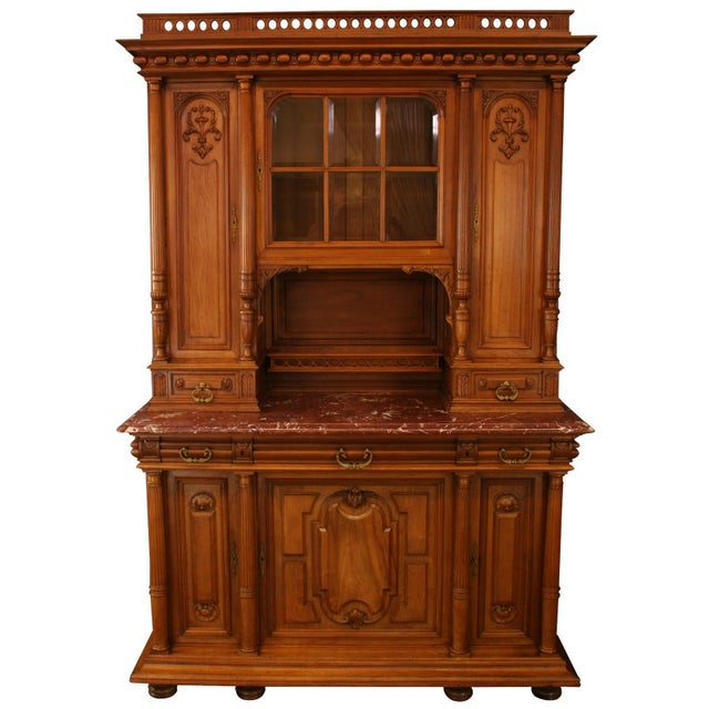 1900 French Renaissance Carved Buffet For Sale