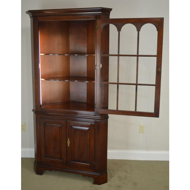 Statton Old Towne Cherry Traditional Corner Cabinet For Sale - Image 10 of 12