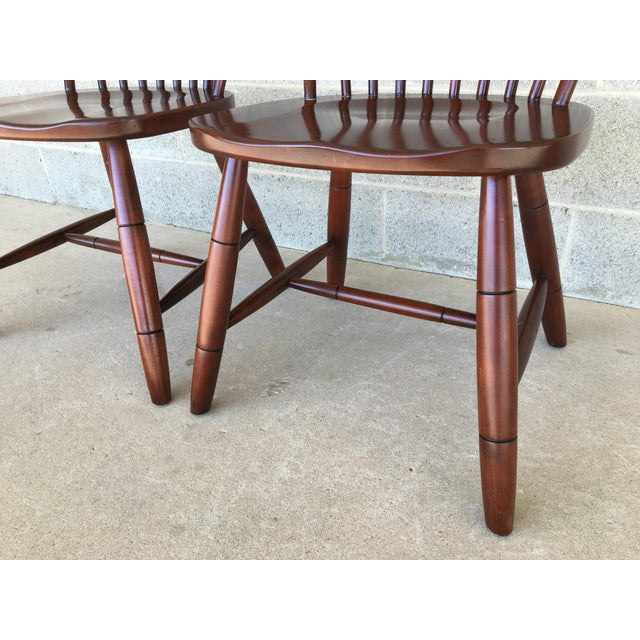 Modern Ethan Allen New Country Hoop Back Gilbert Side Chairs- A Pair For Sale - Image 9 of 12
