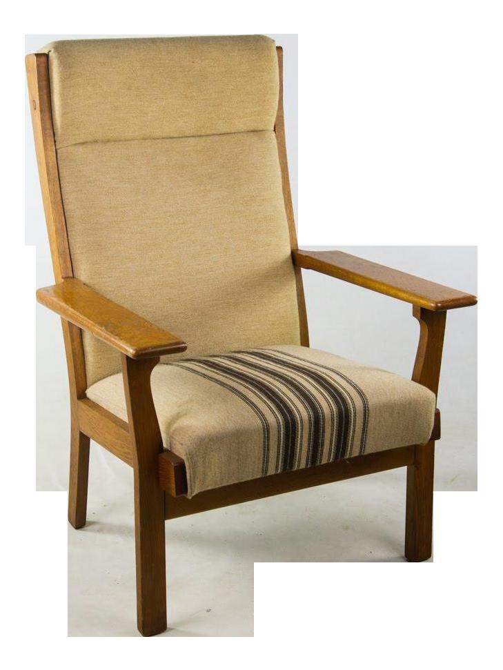 Exceptional Mid Century Modern Hans Wegner Ge 320 Oak Armchair With Original Upholstery