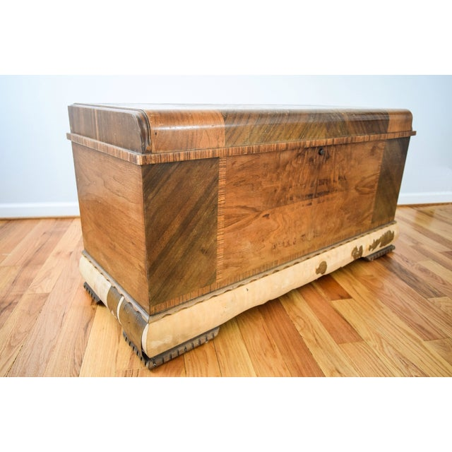 Art Deco Lane Cedar Chest Trunk - Image 6 of 9