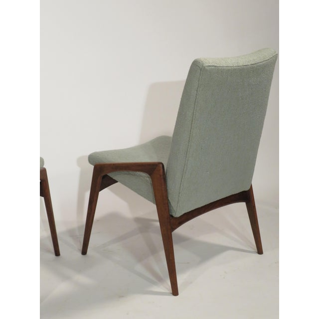 Midcentury Modern Walnut Dining Chairs - Set of 4 - Image 6 of 10