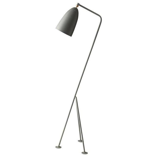 Mid-Century Modern Greta Magnusson Grossman 'Grasshopper' Floor Lamp in Dusty Blue For Sale - Image 3 of 3