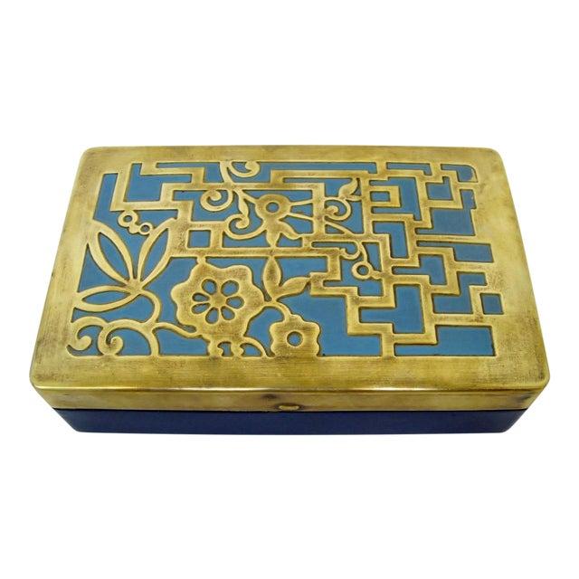 Vintage German Brass & Enamel Box - Image 1 of 6