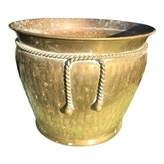 Vintage Large Brass Pot For Sale
