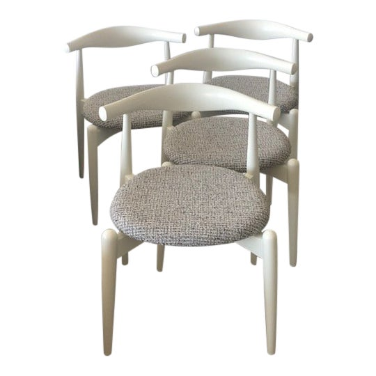 Modern Hans Wegner for Carl Hansen and Sons Original Ch20 Elbow Chairs- Set of 4 For Sale
