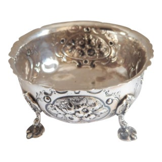 Antique Sterling Henry Holland Queen Victoria Footed Sugar Bowl For Sale