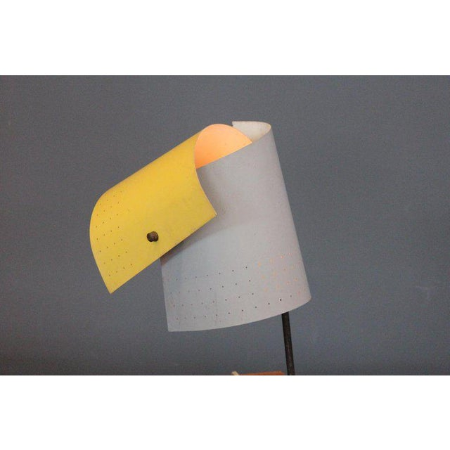 Metal Lester Geis T-5-G Lamp for Heifetz, 1951 For Sale - Image 7 of 11