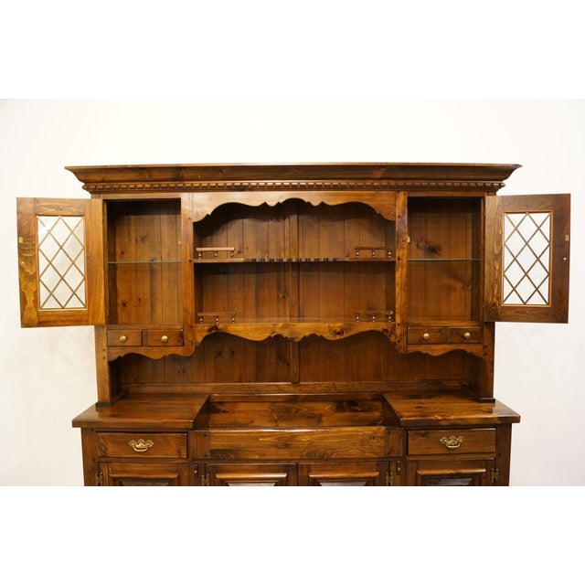 "Pennsylvania House 20th Century Traditional Pennsylvania House Solid Pine 87"" Storage Cabinet For Sale - Image 4 of 13"
