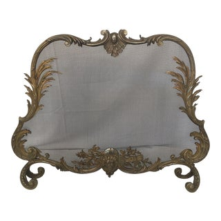 1850s French Bronze Fireplace Screen For Sale
