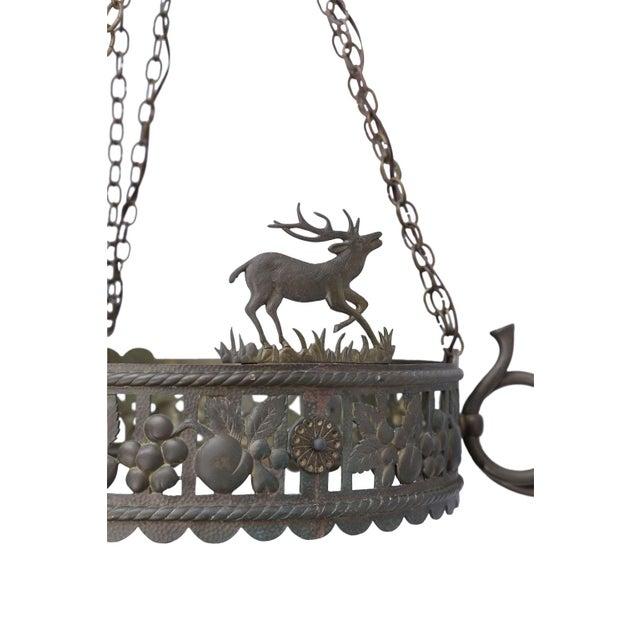 Vintage Brass Hunt Chandelier For Sale - Image 12 of 13