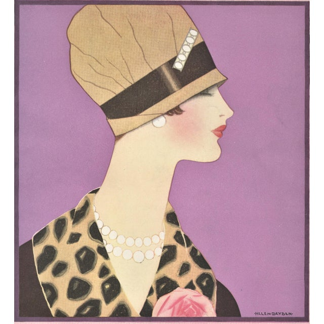 This is an Art Deco fashion illustration design that appeared as cover art for a 1926 French fashion magazine. Magazine...