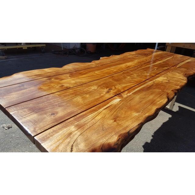 Live Edge Acacia Wood Plank Table - Image 3 of 7