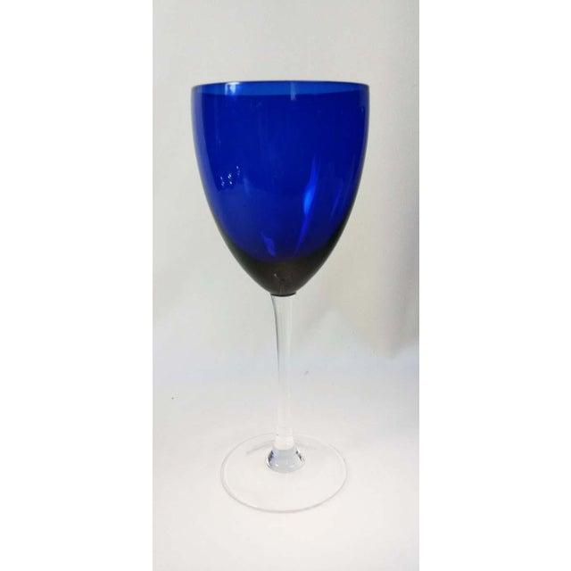 Elegant Set of 13 Cobalt Blue Wine Glasses - Image 3 of 5