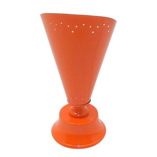 1970s Mid Century Modern Orange Table Torch Lamp For Sale