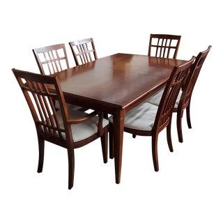 Thomasville Furniture Bridges 2.0 Newbridge Cherry Dining Table & Chair Set For Sale