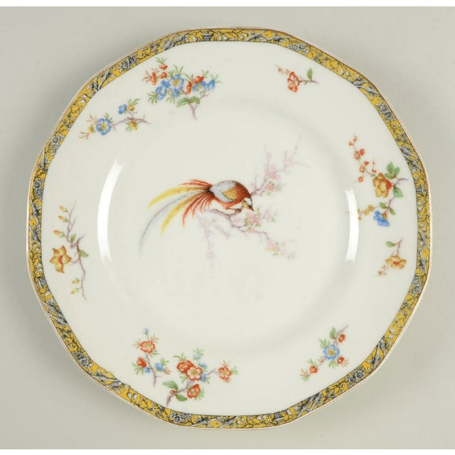 Ceramic Vintage Mixed Bird Dinner Plates - Set of 8 For Sale - Image 7 of 10