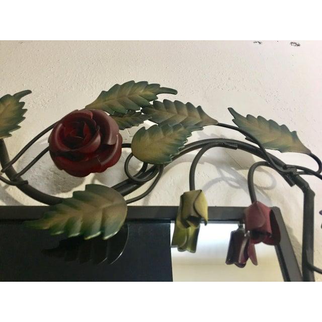 Bronze Framed Rose & Vine Mirror - Image 8 of 10