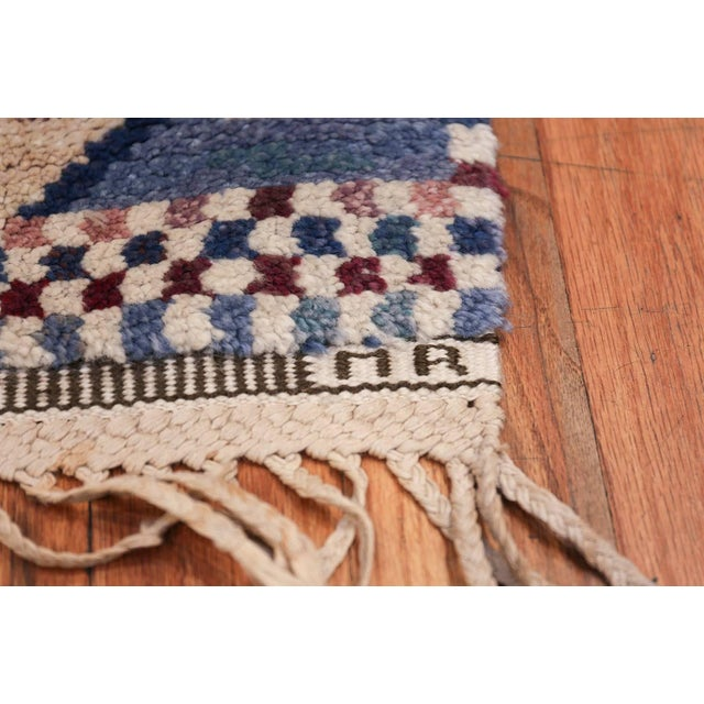 Boho Chic Vintage Scandinavian Marta Maas Marianne Richter Pile Rug - 4′8″ × 7′ For Sale - Image 3 of 11
