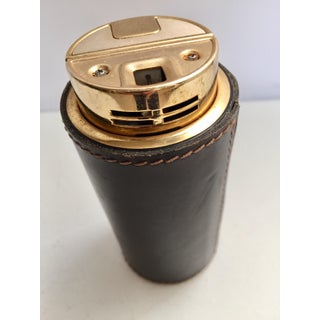 Delvaux French Art Deco Leather Stitched Table Lighter Preview